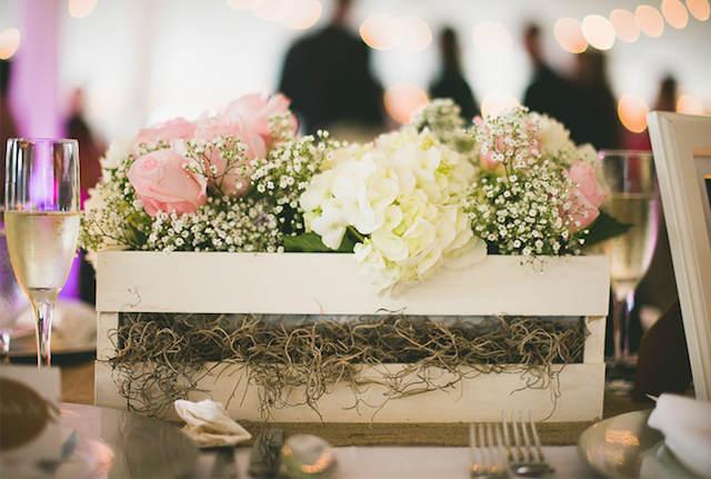 colores suaves centros de mesa para boda