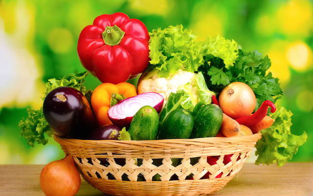 comidas sanas variedades verduras frescas