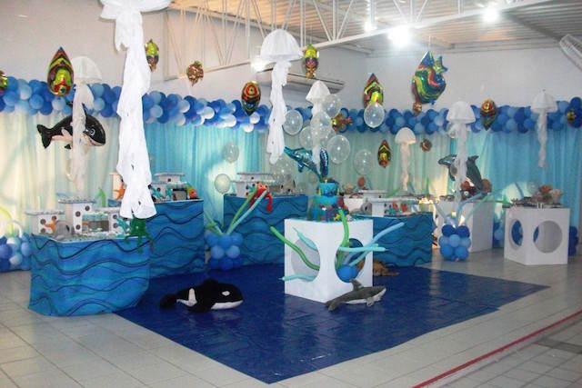 cumpleaños infantiles bajo el mar decoración magnífica