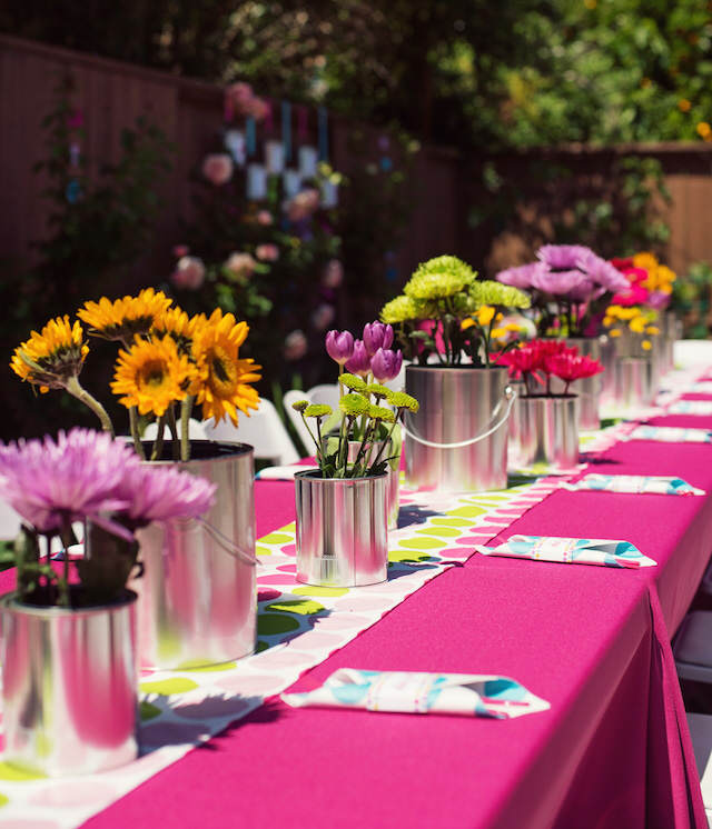 cumpleaños infantiles centros de mesa flores