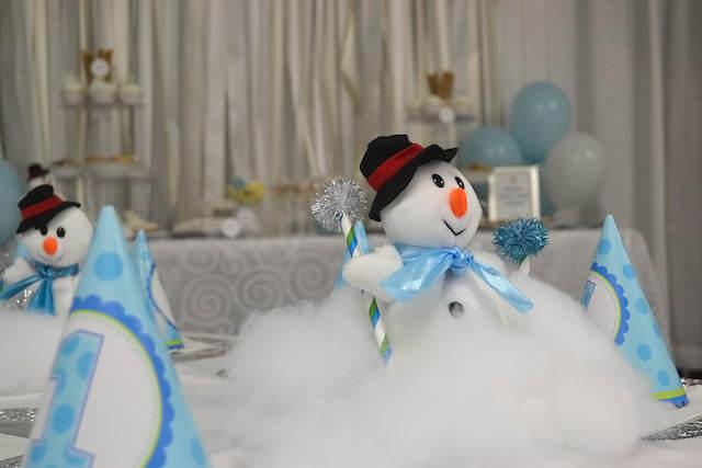 cumpleaños infantiles tema invierno decoración