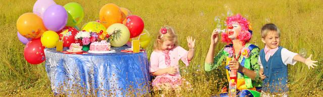 cumpleaños infantiles actividades aire libre payaso