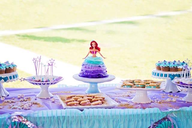 cumpleaños infantiles decoración la Sirenita Ariel