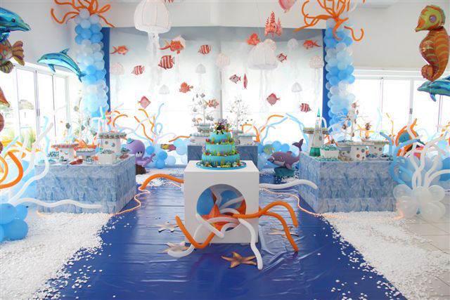 cumpleaños infantiles temáticos bajo el mar
