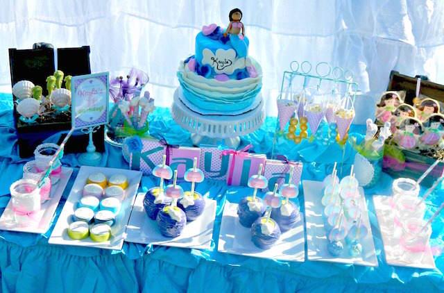 cumpleaños infantiles niña tema mar la sirenita