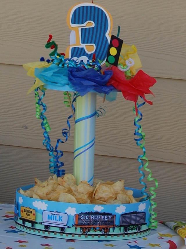 cumpleaños niño centros de mesa infantiles