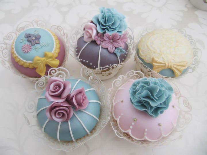 cupcakes temáticos cumpleaños tema vintage