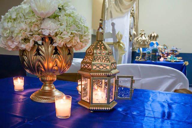 decoración bautizo muchacho estilo marroquí