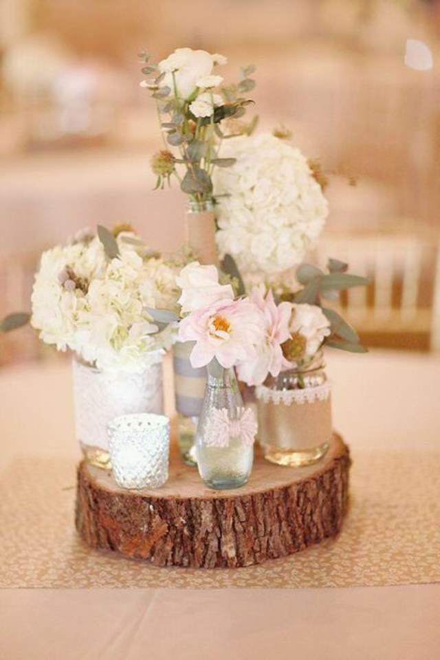 decoración entera boda colores modernos almendra tostada