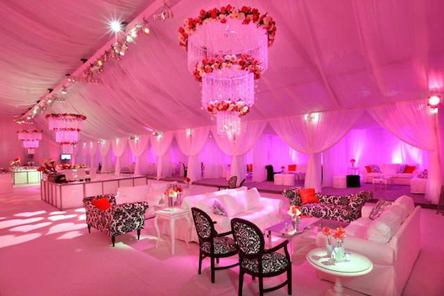 decoración boda iluminación fresa hielo centro de mesa