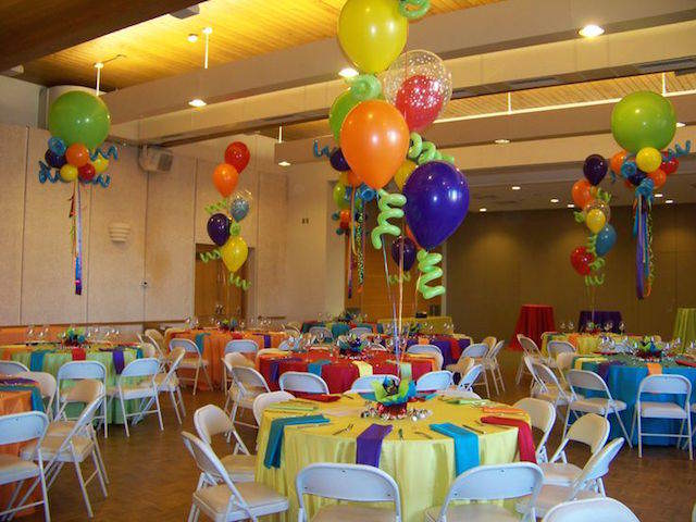 decoración con globos pintados centros de mesa infantiles