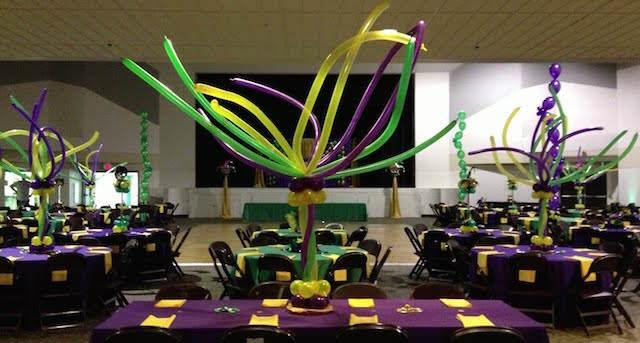 decoración con globos centros de mesa exuberantes