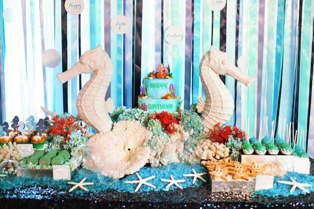 decoración fiestas infantiles caballitos de mar