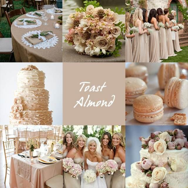 decoración entera moderna preciosas invitaciones de boda color almendra tostada