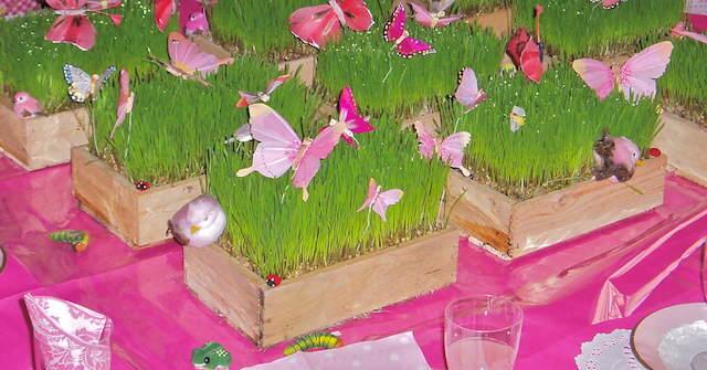 decoracin flores fiestas infantiles muchacha