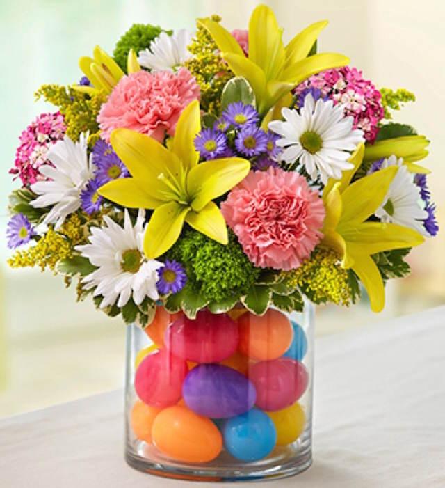 decoración flores tema Pascua fiesta infantil