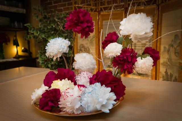 decoración magnífica flores de papel crepe ideas fantásticas