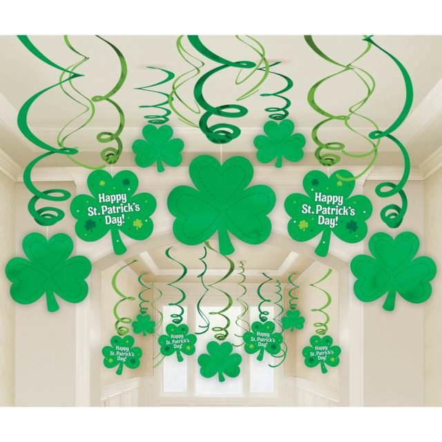 San Patricio decoración original temática color verde fiesta