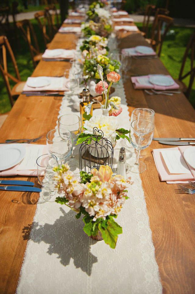 decoración rústica arreglos mesa boda soñada