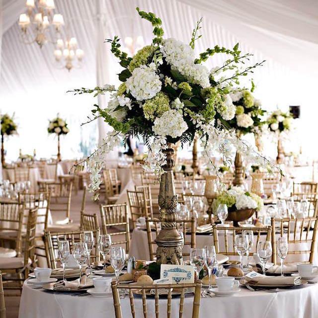 decoración lujo centros de mesa para boda