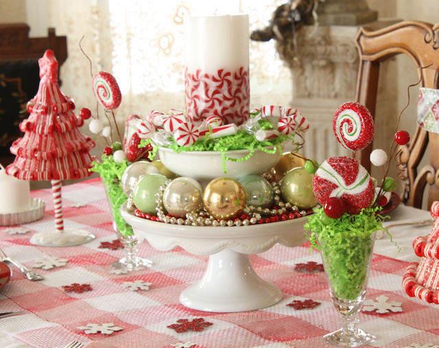 decoración temática navideña centros de mesa infantiles
