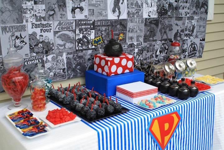 decoración magnífica fiestas infantiles superhéroes