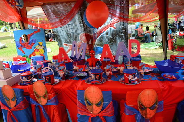 decoración tema spiderman fiestas infantiles