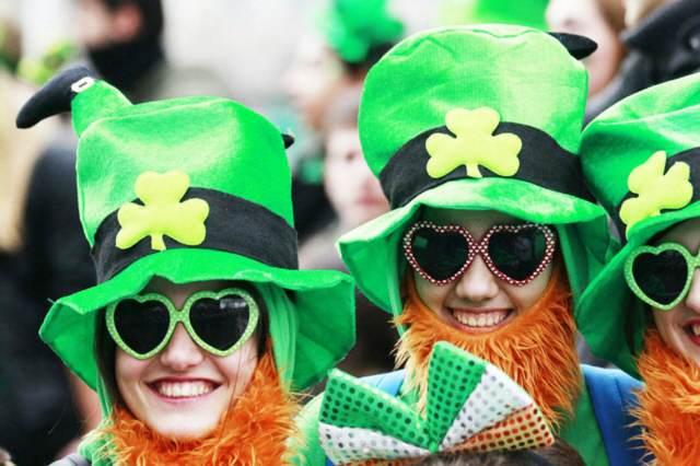 día San Patricio fiesta preciosa sombreros temáticos verdes