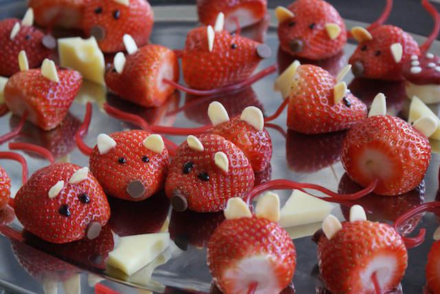 fresas decoradas tematicamente fiesta infantiles