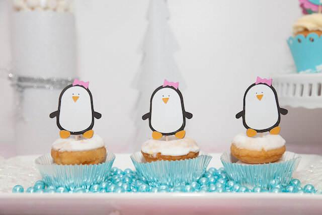 dulces para fiestas infantiles estilo pingüino