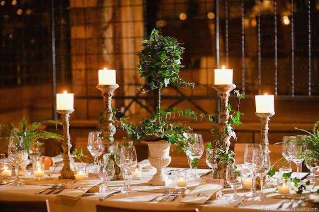 elegantes centros de mesa para boda sala