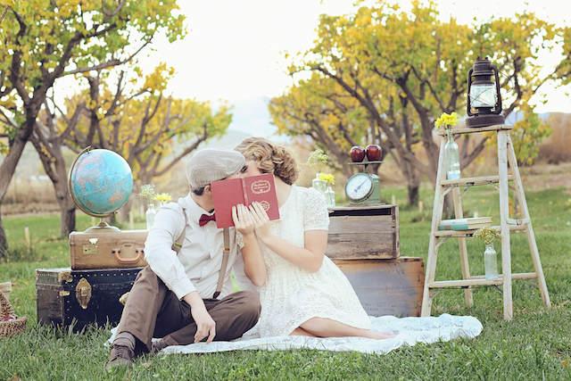 picnic estilo vintage cumpleaños románticos