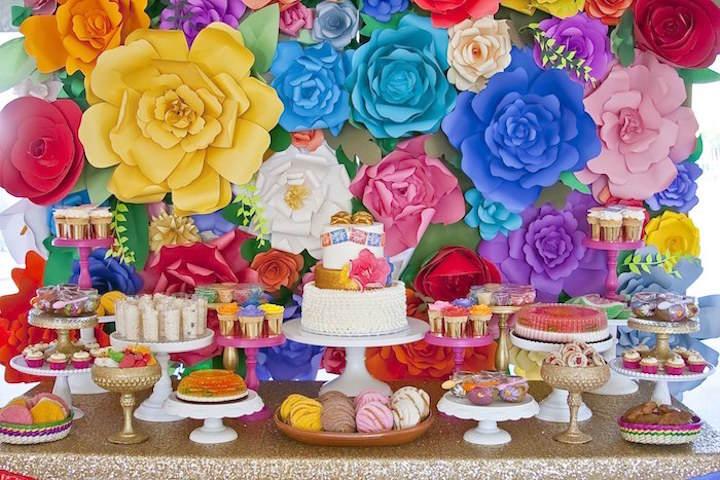 estilo mexicano adornos para baby shower multicolor