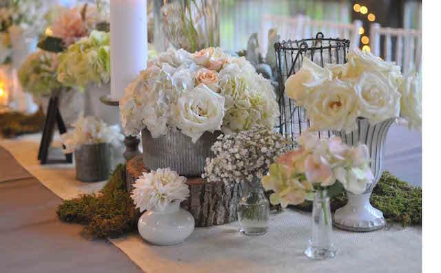 estilo vintage rústico mezcla decoración boda