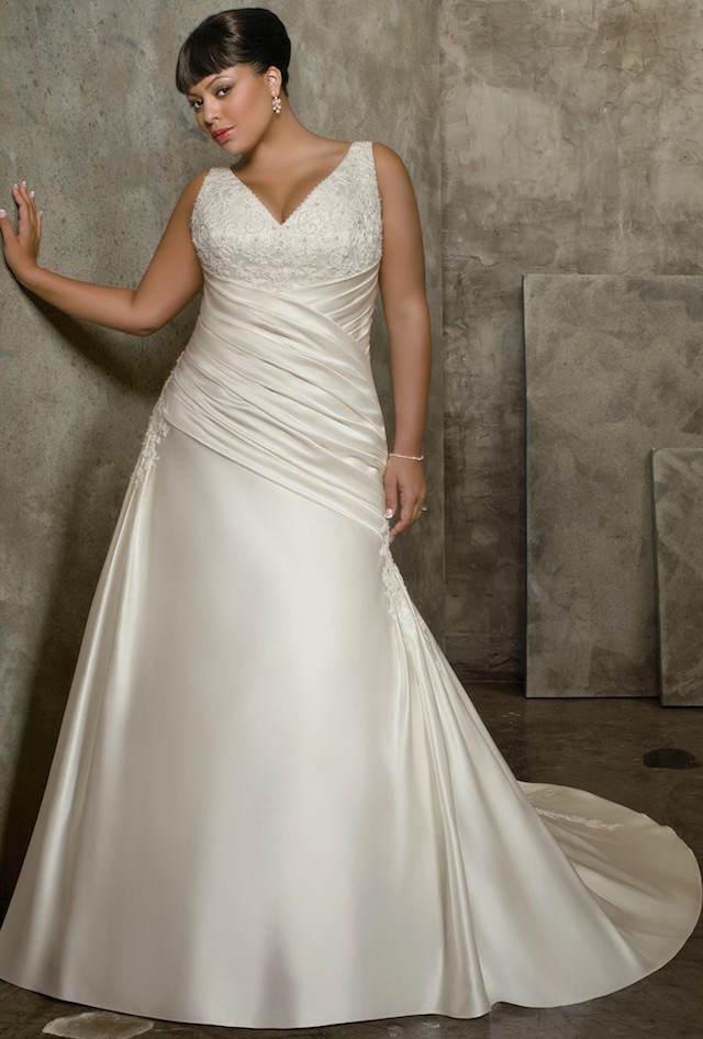 estilo vintage vestidos de novia para gorditas 2015