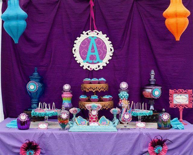 magnífica decoración invitaciones de baby shower tema Marruecos
