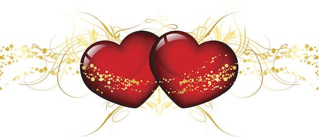 feliz aniversario mi amor dos corazones unidas