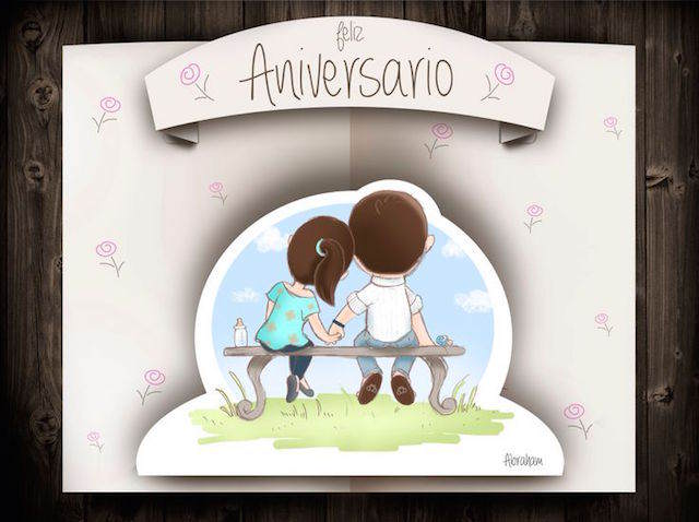 feliz aniversario mi amor romántica cartas
