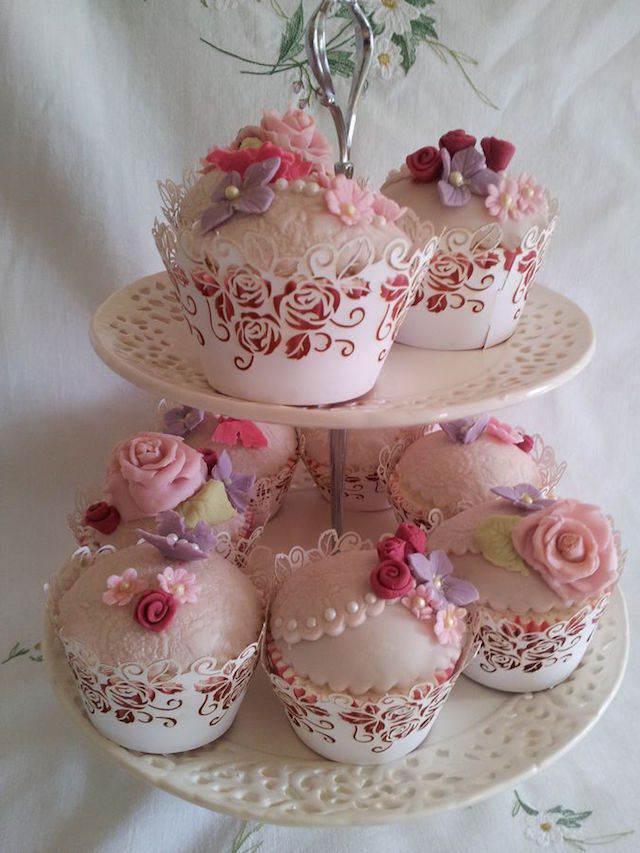 fiesta elegante vintage magdalenas de chocolate decoración