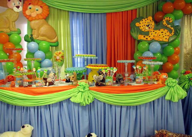 fiestas infantiles decoración tema animales