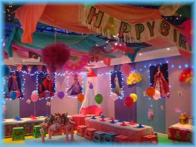 fiestas infantiles preciosa decoración multicolor