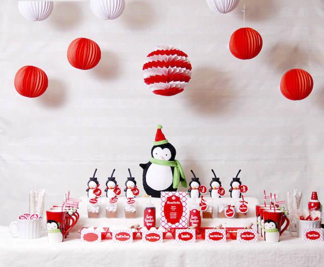 fiestas infantiles tema pingüino decoración preciosa
