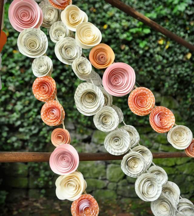 flores de papel crepe ideas originales decoración interesante