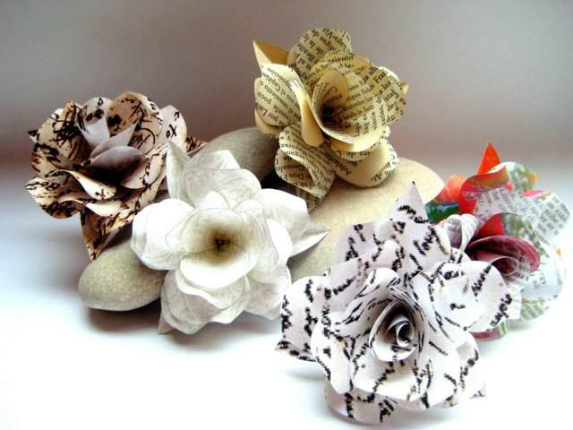 flores de papel ideas magníficas decoración fantástica