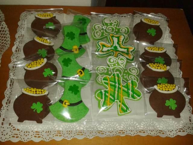 galletas chocolate decoración temática día San Patricio