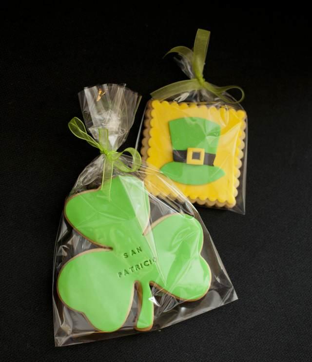 galletas de chocolate decoración temática día San Patricio