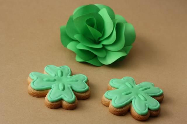 galletas temáticas chocolate San Patricio decoración trébol