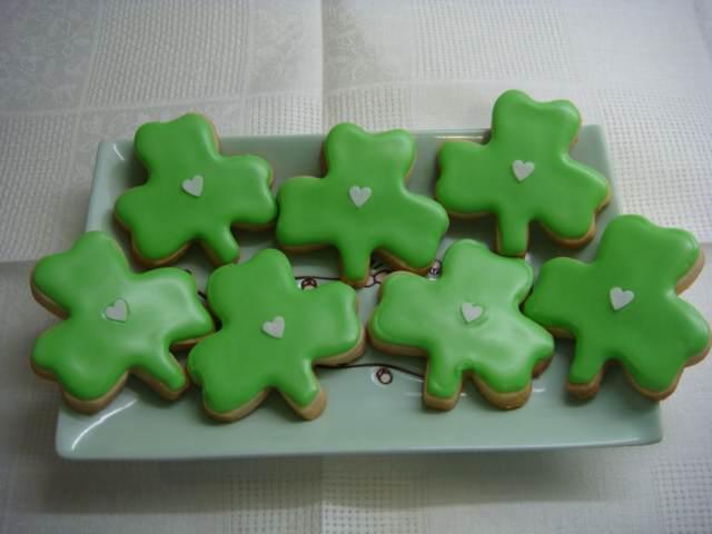 galletas originales fiesta San Patricio chocolate forma trébol