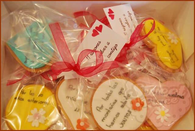 galletas temáticas lindos mensajes de aniversario