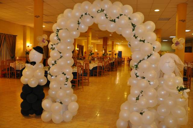 globos ideas decoración original boda preciosa